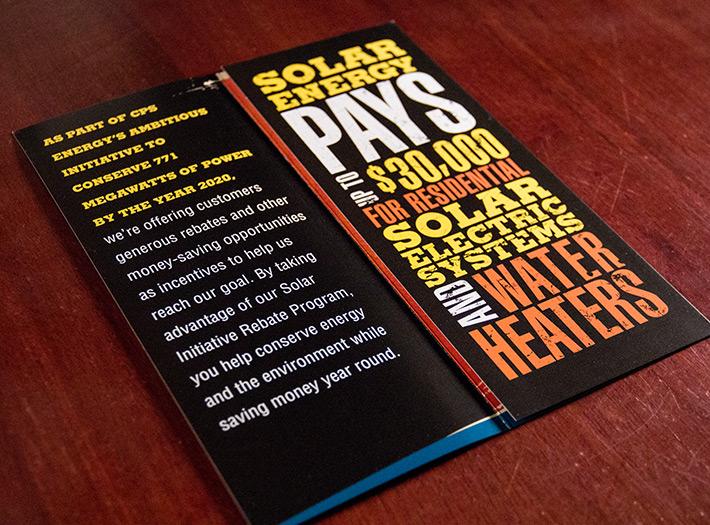 print, rack brochure, typography