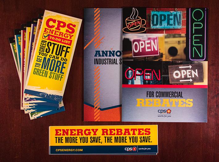 Print, rack brochures, pocket folders and bumper stickers