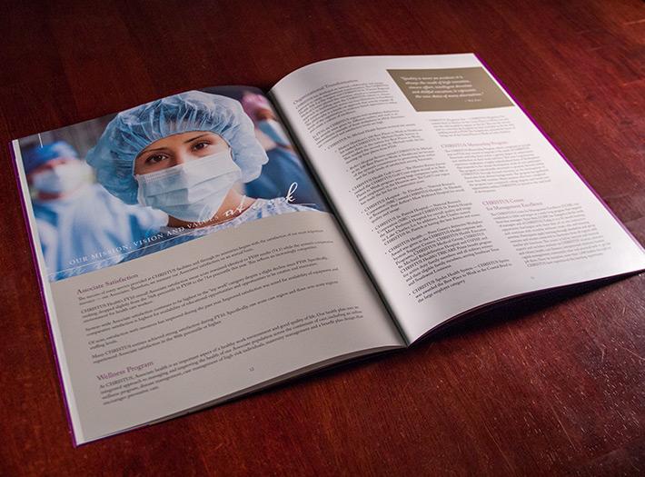 annual  report, print, spread