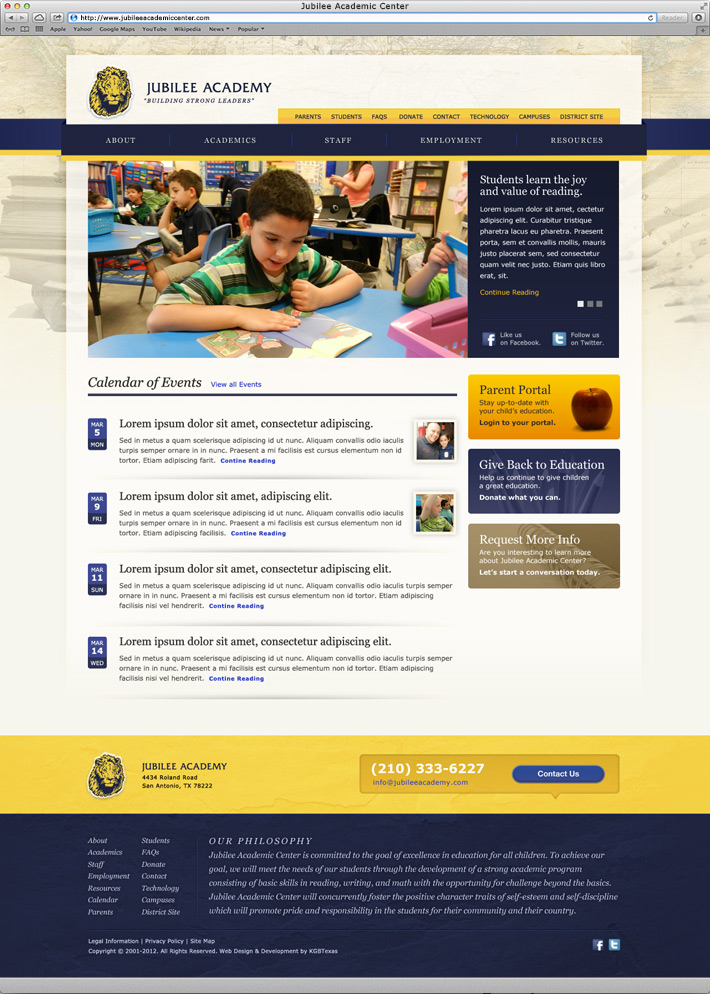 website, interactive