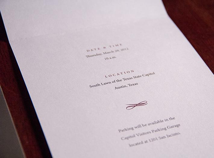 print, invite, detail