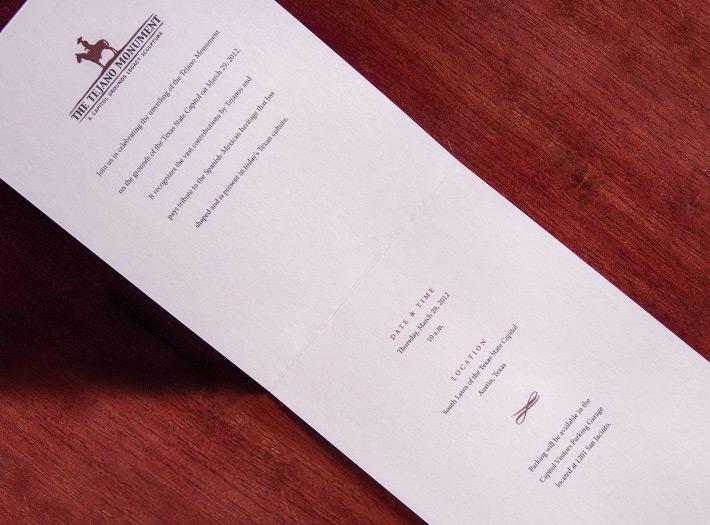 print, invite, open